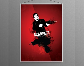 Scarface Say Hello To My Little Friend  Tony  Montana  Home  Decor Poster