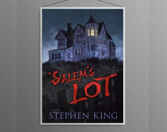 Salem's Lot Stephen King Masterpiece Horror Book Cover Home Decor   Poster