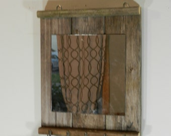 Entryway Coat Rack and Mirror