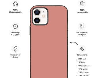 Terracotta phone case, Solid color phone case, Biodegradable iphone case