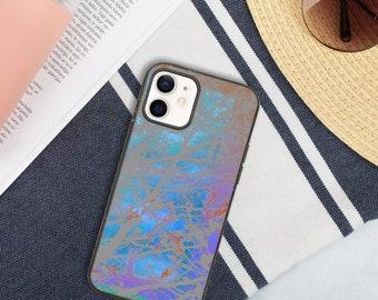 Biodegradable sky-blue botanical eco-friendly iPhone 12 case