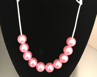 Pink pearl children's necklace