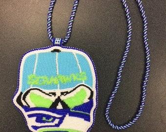 Seahawk skull medalion