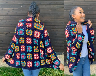 Chill out Granny Square Hooded Jacket Pattern