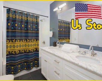 Dusche Vorhänge Art Fabric Personalisierte Dusche Badezimmer Vorhänge  Schöne Dusche Duschvorhang Petrol Und Lila Mosaik,