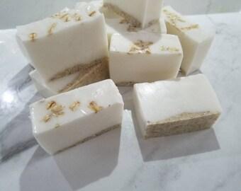 Oatmeal cookie dough soap, goats milk soap, handmade soap, soap bar, ready to ship soap, exfoliating soap