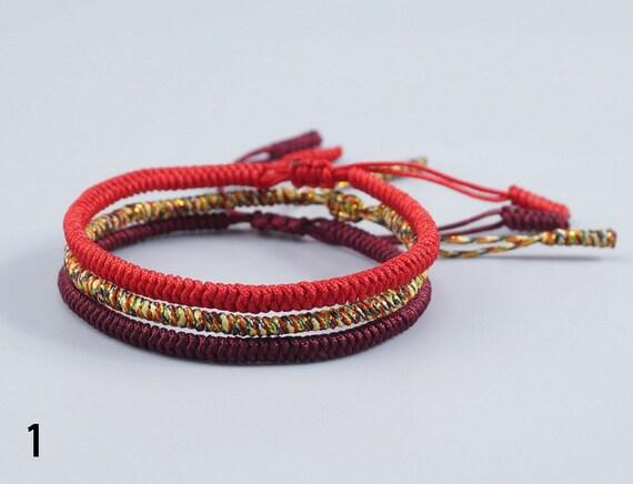 0b38fc9a2e 3PCS Multi Color Tibetan Buddhist Love Lucky Charm Tibetan