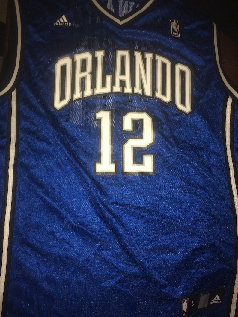 san francisco 564ad 9e595 vintage Orlando Magic Dwight Howard NBA Adidas Jersey L Shaq Basketball  Florida