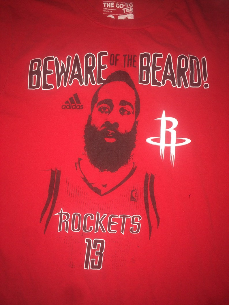 837e2b998 Vintage Houston Rockets James Harden beware of the beard | Etsy