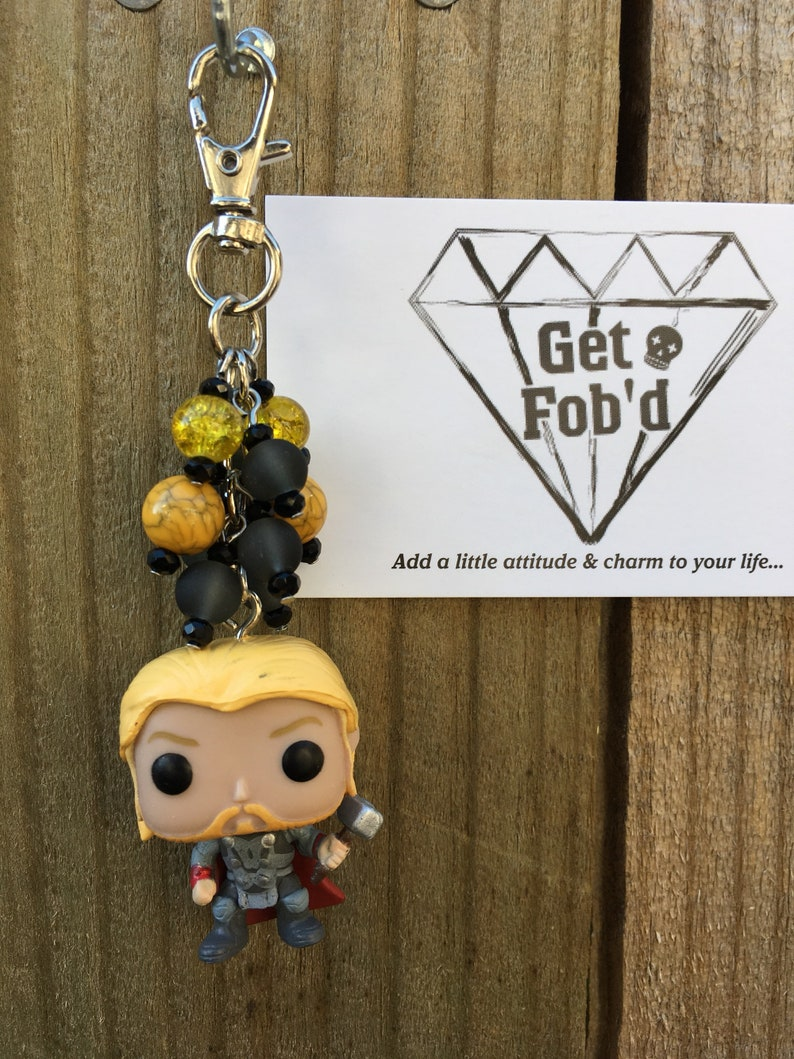d73beed076 Thor The Avengers Son of Odin Bag Charm Fob Marvel