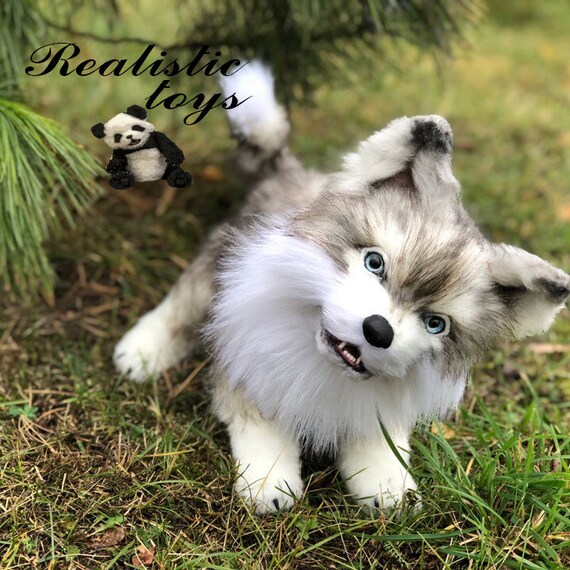 Realistic Wolf Stuffed Animal Wolf Plush Realistic Toys Etsy