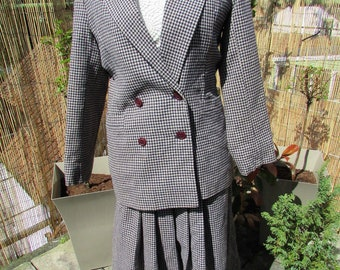 VTG 80s laura ashley tweed suit rare item pure wool