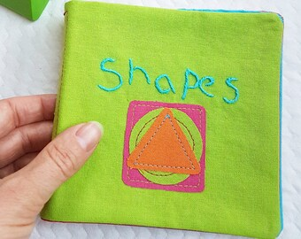 Shapes Cloth Book - a colourful baby and toddler book