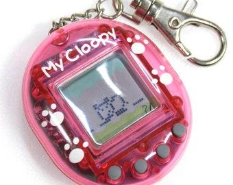 Rare Virtual Pet My Cloopy Clear Pink Tamagotchi Style Kawaii Japan