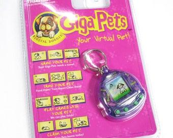 Vintage Giga Pets Digital Doggie Virtual Pet NEW Sealed Tamagotchi Style Tiger Electronics 1997