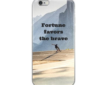 Fortune Favors The Brave - iPhone Case