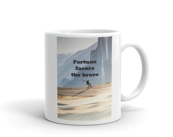 Fortune Favors The Brave - Mug
