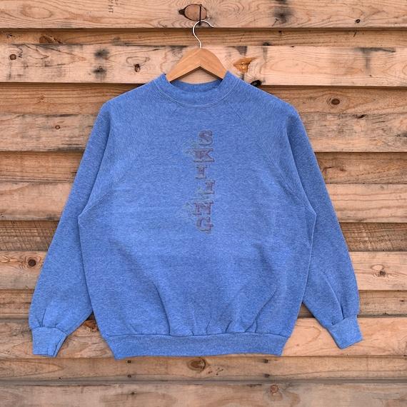 Vintage 80's Skiing Sweatshirt Skiing Crewneck Ski