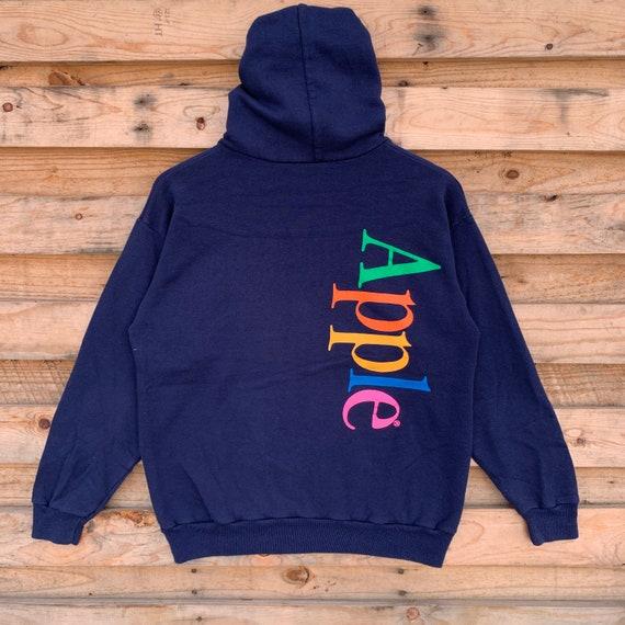 Vintage 90's Apple Hoodie Apple Crewneck Apple Pul