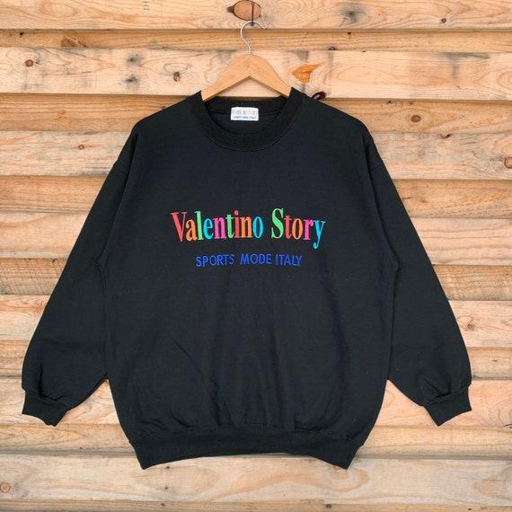 Vintage 90's Valentino Sweatshirt Valentino Crewne