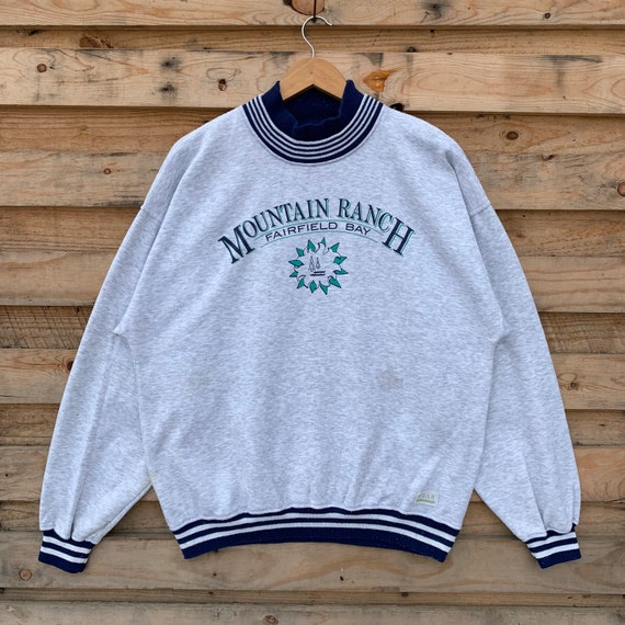 Vintage 90s Mountain Ranch Sweatshirt Mountain Ran