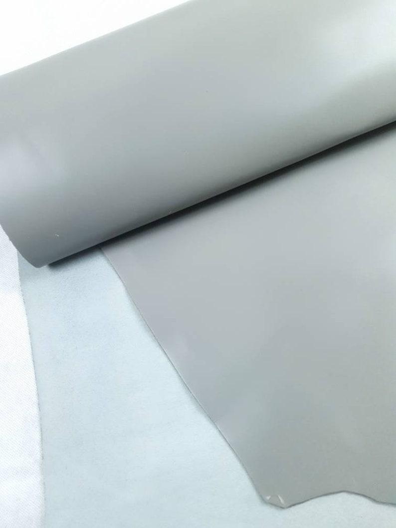 Grey Eternity Silky Luxurious Semi Shine Aniline Leather
