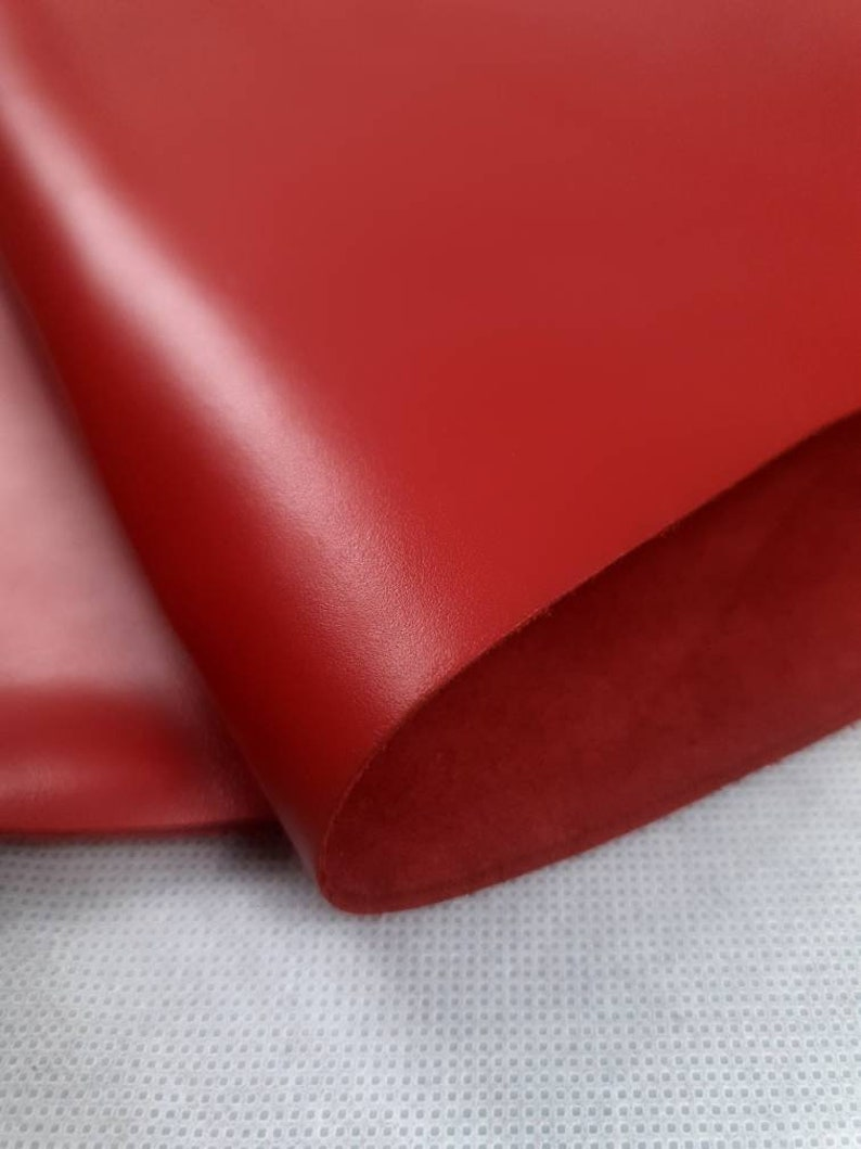 Chili Red Eternity Silky Luxurious Semi Shine Aniline Leather