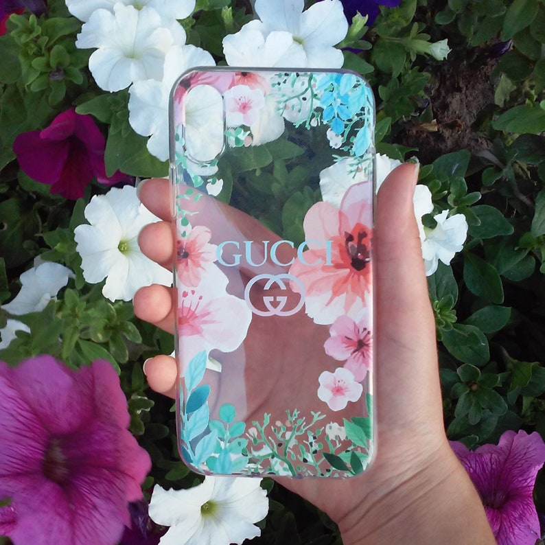 45d95d810a290 Inspired By Flowers Gucci Clear Case iPhone Samsung s6 s7 s8 s9 Plus iPhone  X iPhone 6 7 8 Plus iPhone 4 5 SE Case Clear Samsung Galaxy Edge