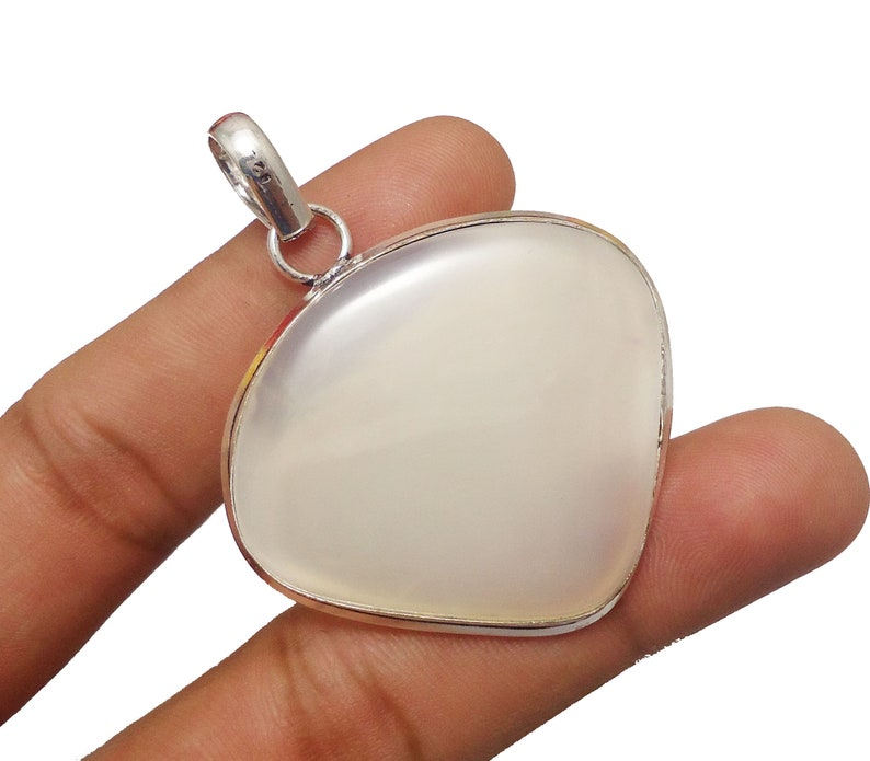 Silver Plated Pendant Gemstone Pendant 925 Sterling Silver Plated Jewelry Size 2.1 Christmas Gift 70cts Natural Agate Slice Pendant