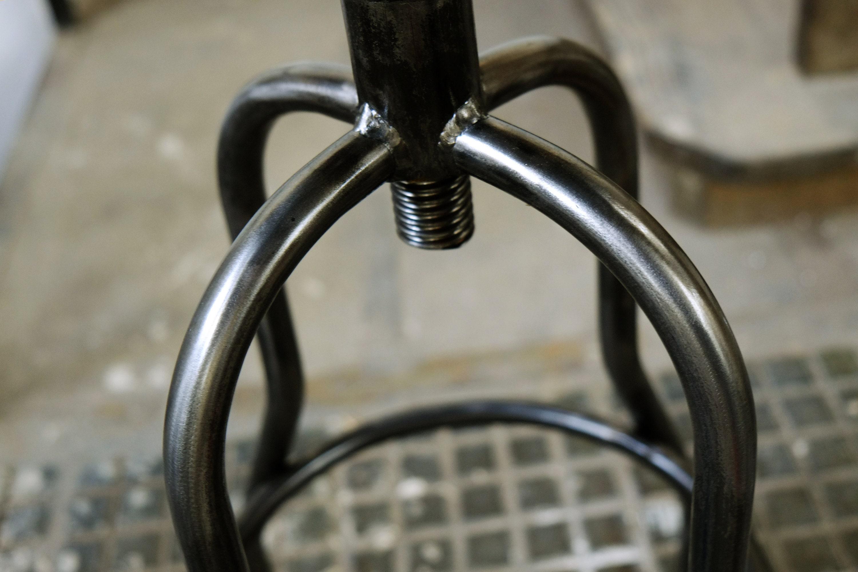 Puñalada industrial silla alta todo acero taburete