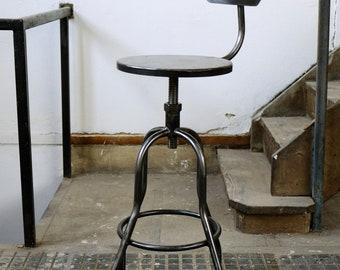Industrial bar stool, Chair all steel industrial stool