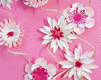 Small Paper Flower Template Etsy