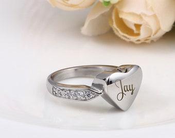 Pet Ash Ring Sterling Ring Pet Urn January Birthstone Ring Pet Ashes Garnet Ring