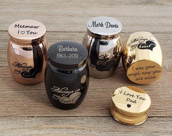 Personalized Mini Urn, Always in My Heart Cremation Urns, Funeral Urns, Keepsake Urn, Child Urns, Human Urns, Ash Keeper, Mini Memorial Urn