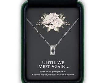 Cremation Jewelry Necklace with Transparent Front, Cremation Urn Necklace for Human Ashes, Mini Cube Memorial Jewelry for Loss of Mother