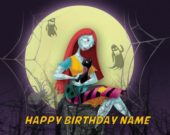 sally nightmare before christmas edible image cake topper party personalized 14 sheet - Nightmare Before Christmas Happy Birthday