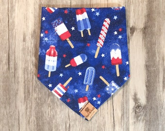 4th of July Popsicle Bandana