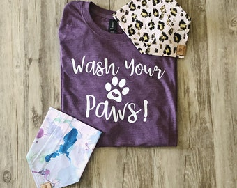 Wash Your Paws Crew Neck Shirt