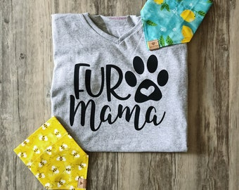 Fur Mama V-Neck Shirts