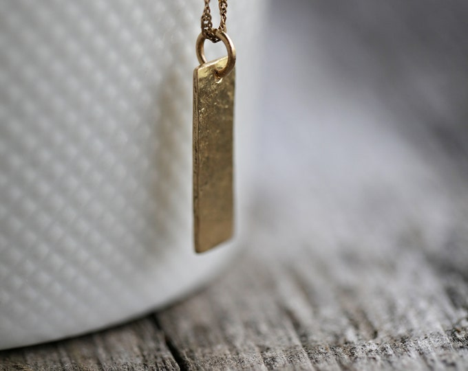 14KT Yellow Gold Hammered Pendant