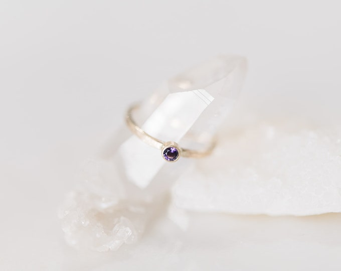 10KT Yellow Gold Amethyst Birthstone Ring