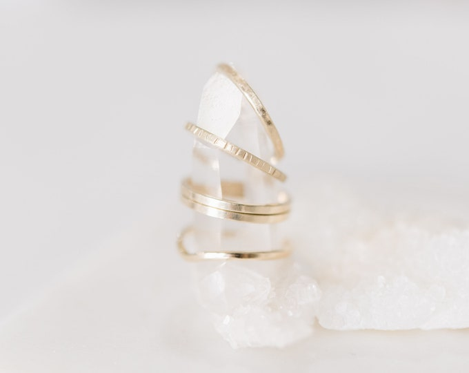 10 KT Handcrafted Stackable Gold Band