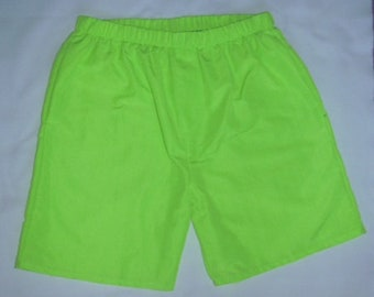 Men and Boys Green Shorts by StatelyFlagClothes