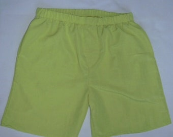 Men and boys Electric Lime shorts by Stately Flag Clothes
