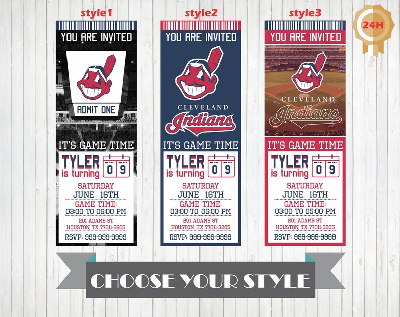 photograph relating to Indians Schedule Printable identified as Cleveland Indians Invitation, Printable Cleveland Indians Birthday Invitation, Birthday Occasion Invites, Invitations, Customized Indians Invite