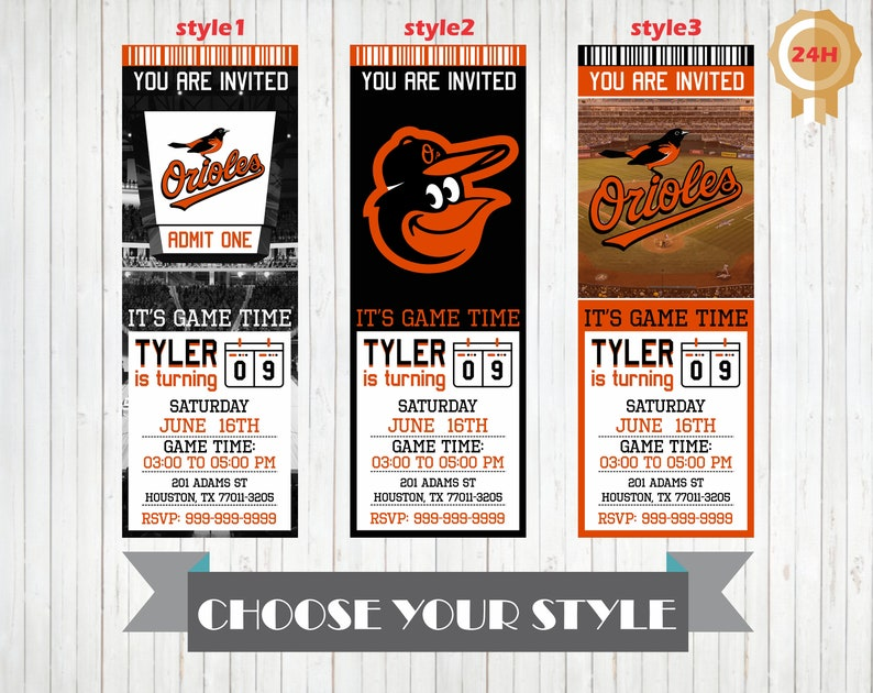 picture about Baltimore Orioles Printable Schedule titled Baltimore Orioles Invitation, Printable Baltimore Orioles Birthday Invitation, Birthday Get together Invites, Custom made Invitations, Invite