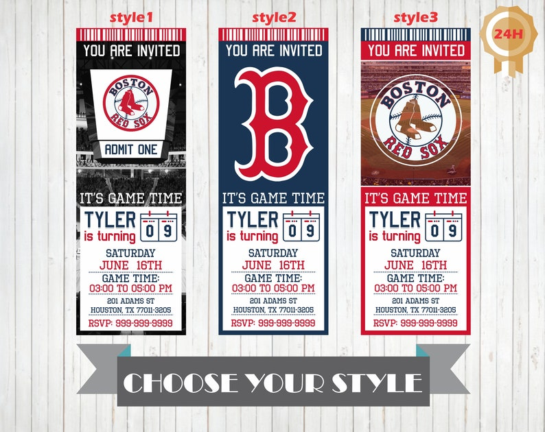photo regarding Printable Red Sox Schedule identify Boston Pink Sox Invitation, Printable Boston Crimson Sox Birthday Invitation, Birthday Get together Invites, Customized Invitations, Crimson Sox Invite