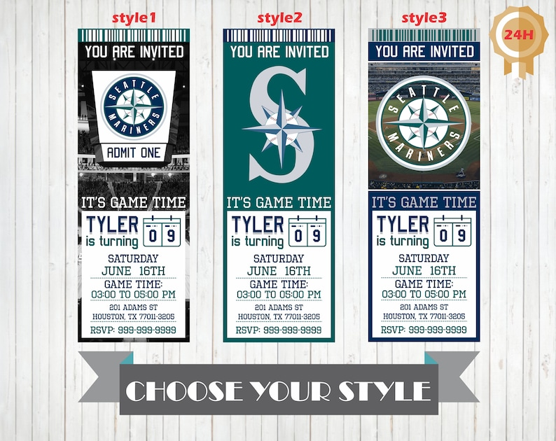 photo relating to Mariners Printable Schedule known as Seattle Mariners Invitation, Printable Seattle Mariners Birthday Invitation, Birthday Social gathering Invites Custom made Invitations Mariners Invite
