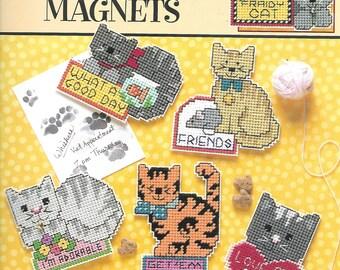 Plastic Canvas Cat Chat Magnets, Leisure Arts 1884