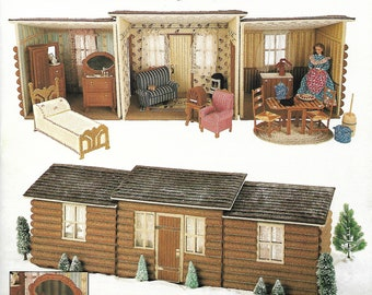 Fashion Doll Country Cabin, Annie's Attic 87C74